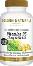 Golden Naturals Vitamine D3 75 mcg (120 softgel capsules)