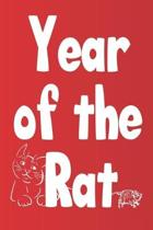 Year of the rat: Chinese new year Blank lined journal