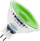 SPL reflectorlamp 12V LED groen 5W GU5,3