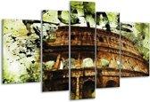 Glasschilderij Rome | Groen, Bruin, Zwart | 170x100cm 5Luik | Foto print op Glas |  F003329