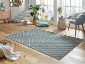 Modern vloerkleed ruiten Danton - grijs/blauw 160x230 cm