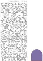 Sticker Charm ABC - Mirror Purple