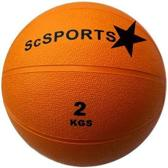 ScSports - Medicijnbal - Medicine bal - Rubber - 2 kg - Oranje