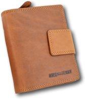 Hillburry - VL77708 - bruin - dames - heren - portemonnee - vintage leder