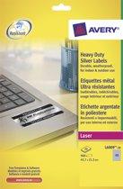 2x Avery ultra-sterke zilverkleurige etiketten 45,7x21,2mm (bxh), 960 stuks, 48 per blad