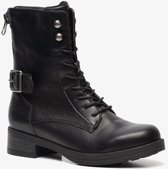 Blue Box dames veterboots - Zwart - Maat 37