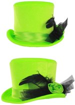 Mini hoge hoed dames fel groen