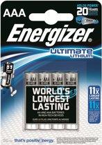 Energizer Ulitmate Lithium AAA - FR3 - FR03 Batterijen - 4 stuks