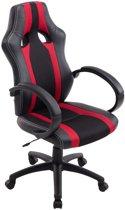 Clp Vettel - Bureaustoel - Kunstleer / gaasbekleding - Zwart/rood
