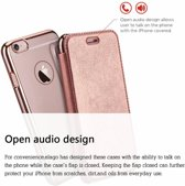 Xundd - iPhone 8 ( 4.7 inch) Roze Goud slim Crystal Folio Flip hoesje / book case