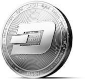 DASH Munt Cryptomunt Souvenir Zilverkleur