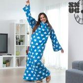 Extra Zacht Snug Snug Deken met Mouwen voor Volwassenen  - BLAUW