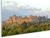Luchtfoto bij de Franse stad Carcassonne Plexiglas 160x80 cm - Foto print op Glas (Plexiglas wanddecoratie)