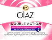 Olaz Double Action - Normale & Droge Huid - Nachtcrème