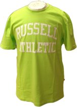Russell Athletic Heren T Shirt - Lime/Wit - Maat M
