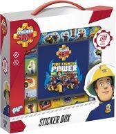 Brandweerman Sam stickerbox 12rolls + boekje