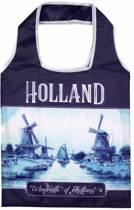 Matix - Delftsblauw opvouwbaar tasje - thema Holland