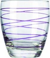Montana Swirl Sapglas - Paars - 6 stuks