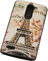3D Hardcase met Diamant L Bello D335 Parijs - Back Cover Case Bumper Hoesje