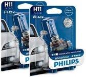 Philips WhiteVision set 3700k - H11- (2 losse blisters)