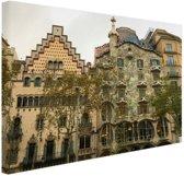 Architectuur van Gaudi Canvas 30x20 cm - Foto print op Canvas schilderij (Wanddecoratie)