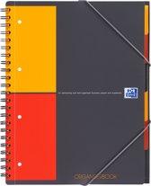 Oxford International Organiserbook notitieboek - A4+ - Geruit 5 mm - 160 pagina's