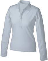 Witte stretch poloshirt voor dames M