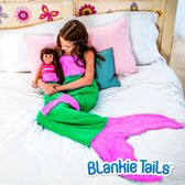 Mermaid Blanket Green / Deep Pink Kids