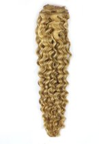 Remy Human Hair extensions curly 18 - blond 18/613#