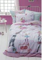 Cinderella Ballerina Girl Dekbedovertrek - Eenpersoons - 140x200 cm - Pink