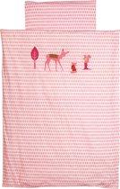 Taftan - Dekbedovertrek - Hertje roze- 120 x 150 - roze