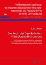 Das Recht der Gesellschafter-Fremdkapitalfinanzierung
