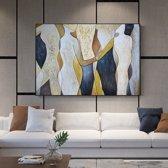 Canvas Schilderij * Abstracte Mens Figuren * - Moderne Kunst aan je Muur - Kleur - 50 x 70 cm