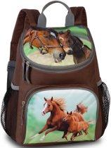 Animal Pictures Rugzak Paard en Veulen - 30 x 21 x 11 cm - Bruin