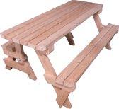 Woodkit.nl Douglas hout Inklapbare picknicktafel bouwpakket