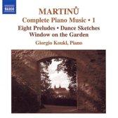 Martinu:Complete Piano Music,1
