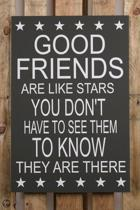 Homedecoration Wand- of plafonddecoratie 907011042013 Good friends. Spreukborden 60x40cm Black
