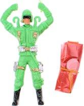 Toi-toys Parachutespringer Soldaat 11 Cm Groen