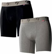 Heren Boxer 2-Pack - Black / Grey