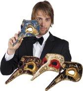 12 stuks: Masker Venetie - naso in 4 kleuren - assorti