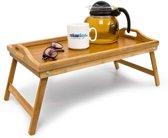 relaxdays Bedtafel - Bamboe hout - Dienblad - 50x30 cm