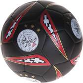 Ajax bal - zwart/wit/rood