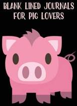 Blank Lined Journals for Pig Lovers