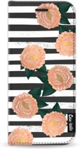 Casetastic Wallet Case Black Samsung Galaxy S8 - Striped Winter Flowers
