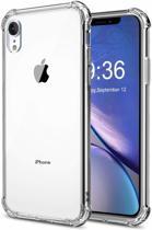 Apple - iPhone XR - TPU Siliconen hoesje met verstevigde randen - Met 2 extra screenprotectors