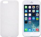 iPhone 6 - 6S - TPU S-Line Bescherm-Hoes Skin - Wit