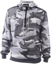 Camouflage hoodie/sweater wit maat M