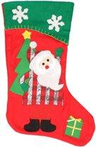 Kerstsok Kerstman rood/groen 45 cm decoratie/versiering