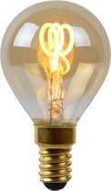Lucide LED Bulb - Filament lamp - LED Dimb. - E14 - 1x3W 2200K - Amber