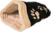 Trixie kattenmand slaapzak jasira zwart / beige poot 25x27x45 cm